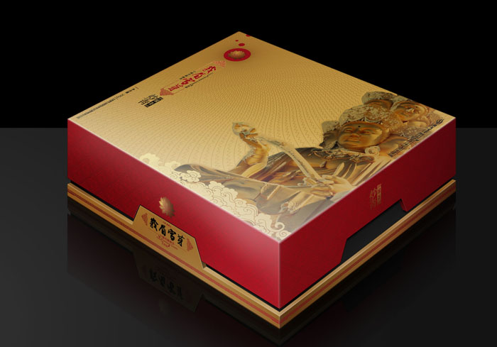 雪芽绿茶系列 好利来中秋月饼包装盒设计