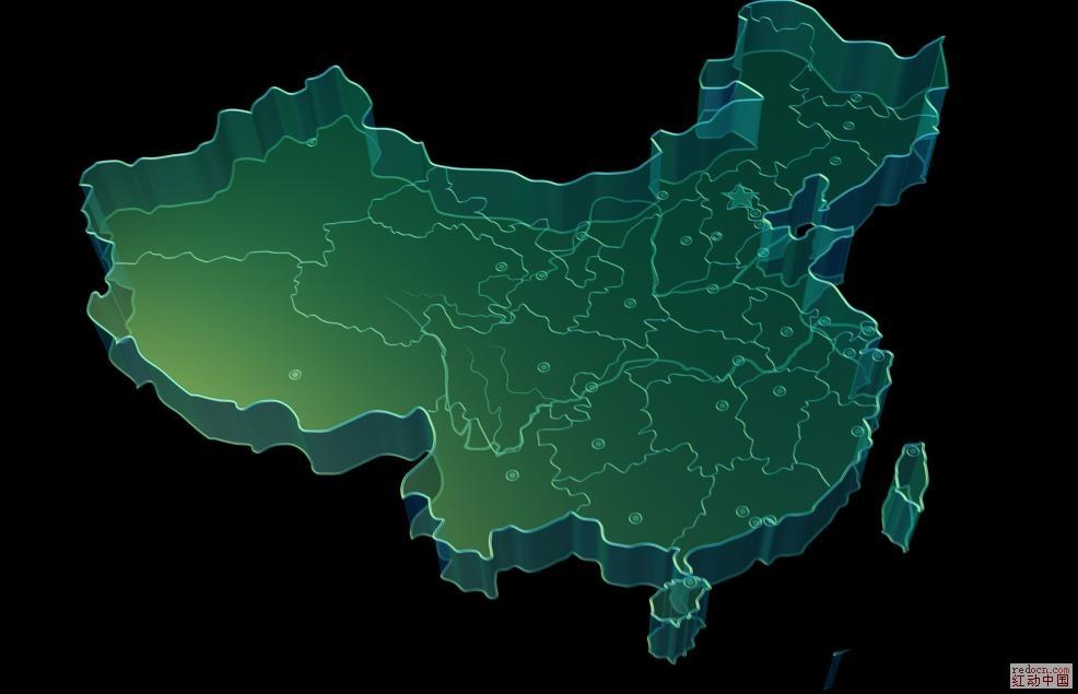 地图 矢量图 譬如:广东省的广州市 地图    湖南省的长沙市 地图