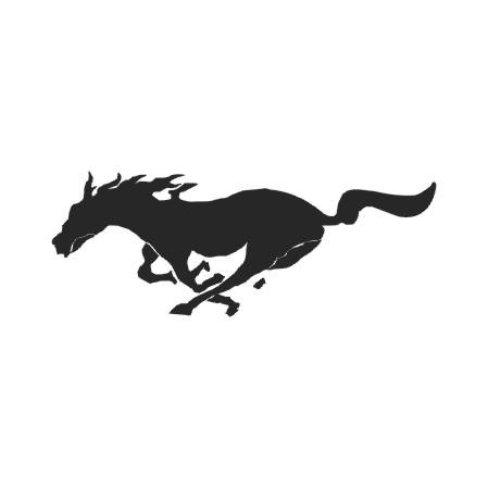 野马标志手绘图