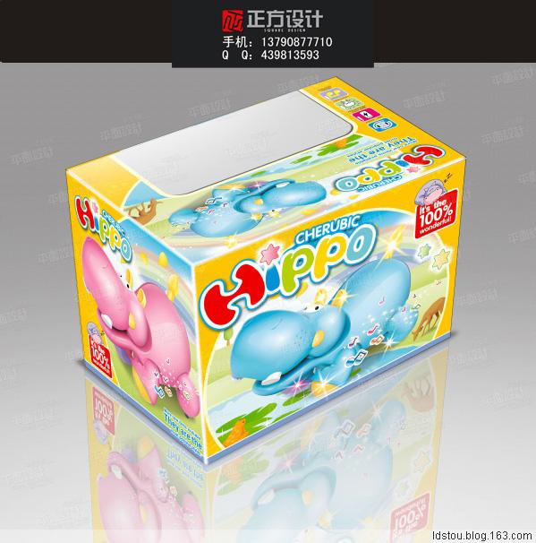 玩具娃娃玩具包装盒设计