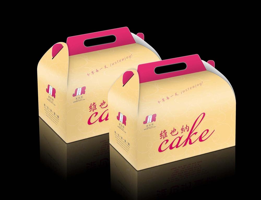 维也纳精致蛋糕包装盒设计