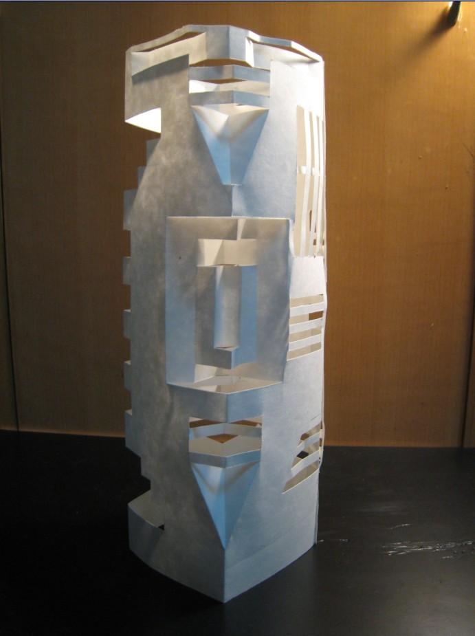 柱体立体构成图片 求一个长方柱体和圆柱体的立体构成折纸作品图片