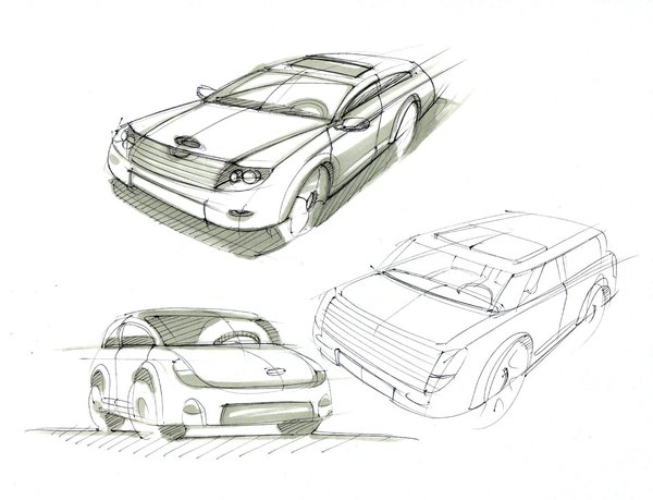 车手绘效果图 工业设计 产品设计 三维区