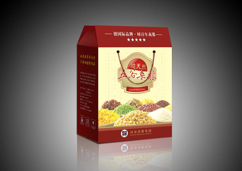 土特产食品驴肉麻片杂粮包装盒设计