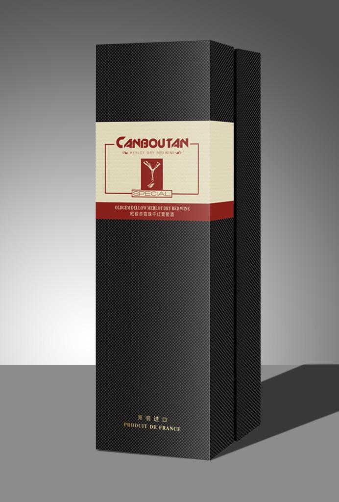 高档红酒纸盒包装三款