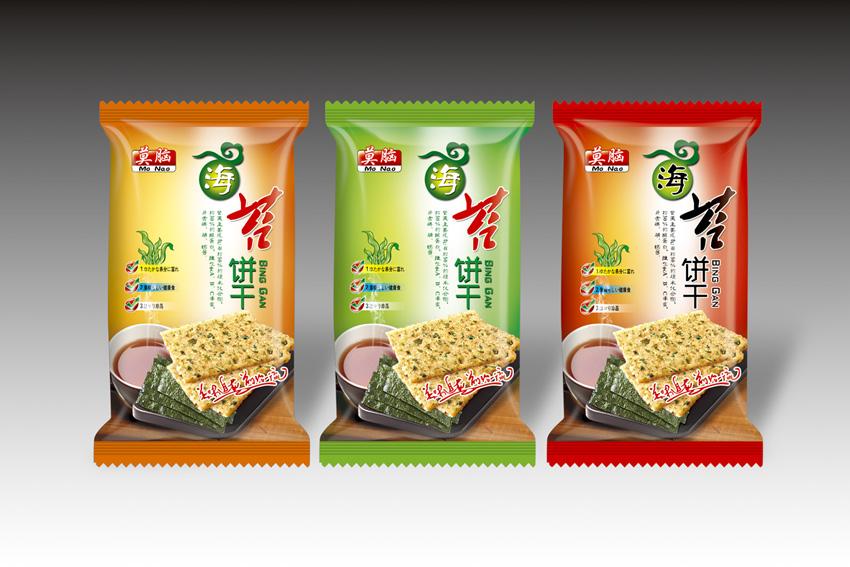 海苔饼干零食包装袋设计