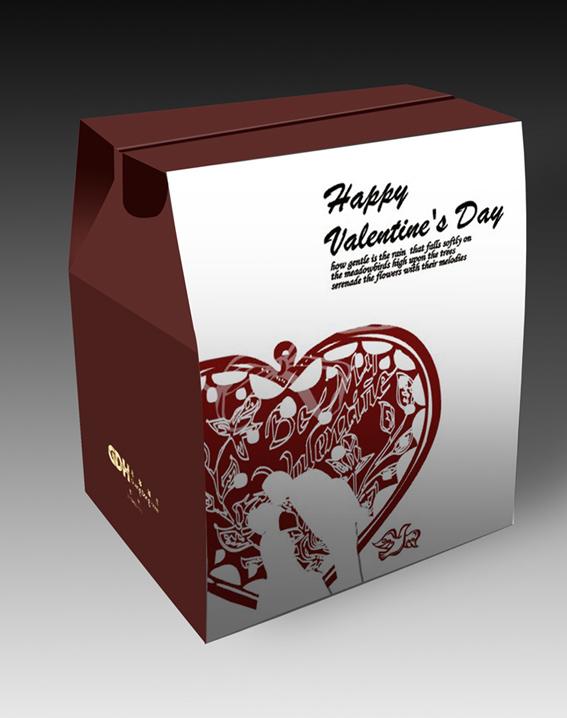 生日蛋糕零食包装盒设计