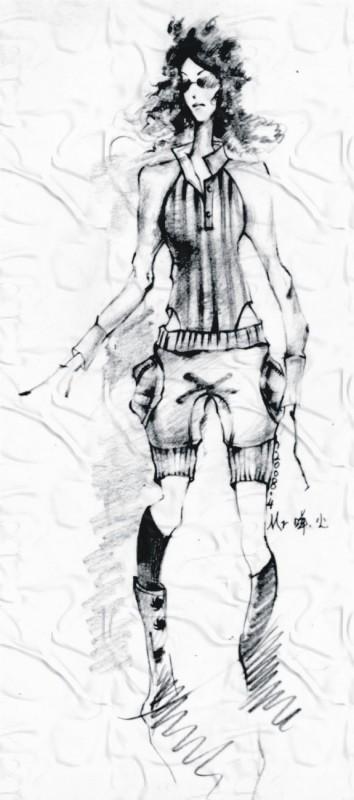 手绘服装效果图,精彩在后面,希望大家喜欢我的作品哦