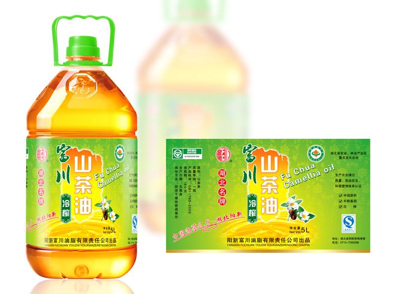 富山<font color=red>山茶油</font>食用调和油食品<font color=red>标签</font>包装设计 - 土特