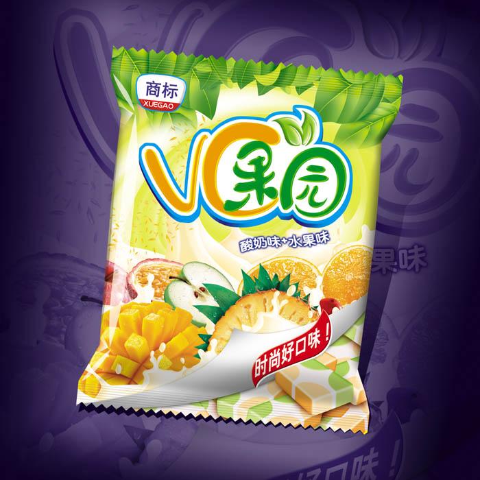 vc果园糖果零食包装袋设计