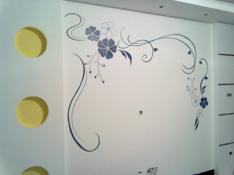 淮南艺峰手绘墙 最新手绘装修日志图片