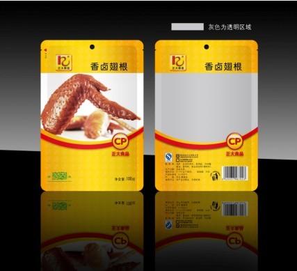 泡菜麻辣鸡翅土特产食品包装袋设计