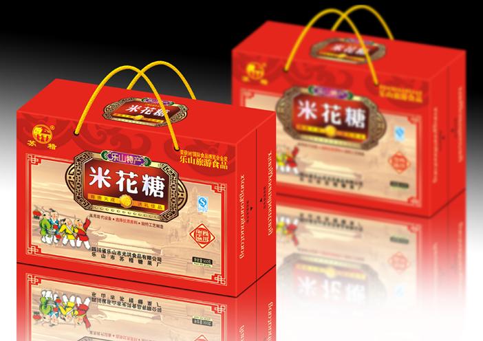 白酒芝麻糕料酒龙眼酥牛肉土特产包装盒设计-土特产类食品包装-食品