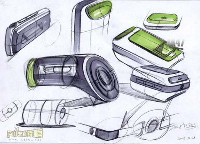 马克笔手绘的作品_其他_工业/产品_原创设计 第一设计