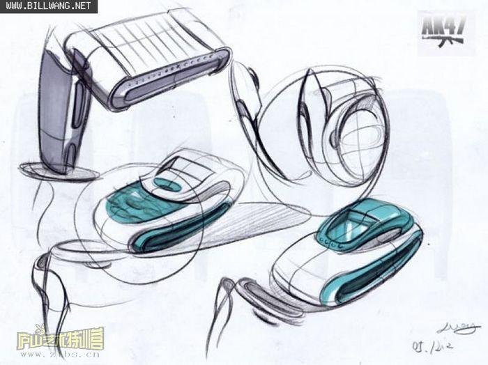 id概念设计(图)-id概念设计; 产品设计马克笔效果图_马克笔手绘产品