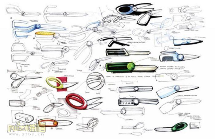 马克笔手绘设计图工业设计展示