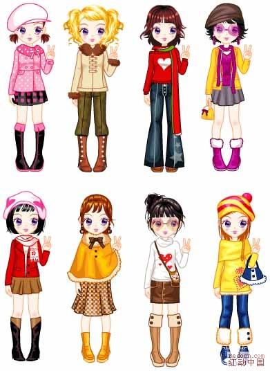 八个女生头像动漫