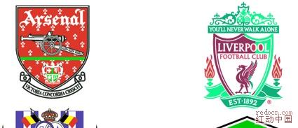足球俱乐部标志 企业LOGO标志 常用素材图片