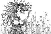 图片标题:毛线头 关键字:第1张,很有纪念意义,是我画成套作品的开始  加入时间:2009-5-3 09:47 加入作者:redocn