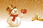 图片标题:12張2009最新圣诞矢量素材 关键字:雪人礼物  加入时间:2008-11-26 19:55 加入作者:阿Q第二